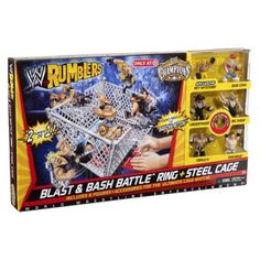 WWE Rumblers Blast and Bash Battle Ring Steel Cage