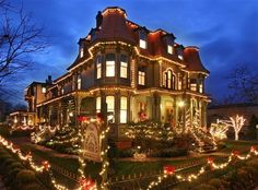 The Queen Victoria at Christmas - Cape May, New Jersey.  Bed and Breakfast Inn