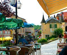 - View from a cafe in Melk Austria Melk Austria, Vienna Austria, Wachau Valley, Serene Silhouettes, Danube River Cruise, European River Cruises, Visit Austria, Sidewalk Cafe, Heart Of Europe