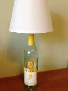 Apothic red wine bottle table lamp light small table lamp glass barefoot pinot grigio wine bottle table lamp light by lampsbylamp aloadofball Choice Image