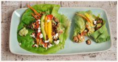 Salad-Wraps with homemade guacamole - healthy and delicious! ---- Salat-Wraps mit Guacamole - gesund und dabei auch noch köstlich!