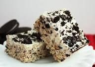 1 pkg. ( about 6 cups) Oreos, coarsely crushed  5 cups of marshmallows  4 Tbsp. margarine    Melt marshmallows and margarine. Add Oreos and press into a greased 9×13 pan.