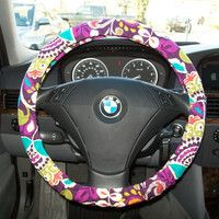 Vera bradley steering wheel cover. I must have this.