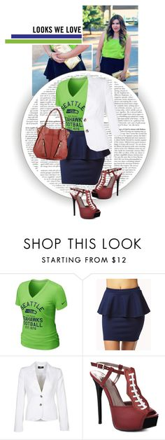 """""""Seattle Seahawks Outfit ft HERSTAR football pumps!"""" by missmelika ❤ liked on Polyvore featuring NIKE, Forever 21, Mexx Metropolitan and Oryany"""