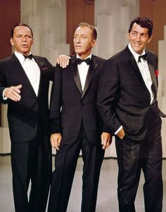 I think if Gabe could channel Dean Martin he would. Frank Sinatra, Bing Crosby, and Dean Martin. Hollywood Stars, Old Hollywood, Viejo Hollywood, Hollywood Glamour, Classic Hollywood, Dean Martin, Joey Bishop, Franck Sinatra, Jerry Lewis