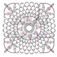 геометрические мотивы крючком схема