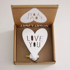 Love You Night Light - The cutest night light that we ever did see! Perfectly packaged, you hardly need to wrap it. #babystuffyouneed