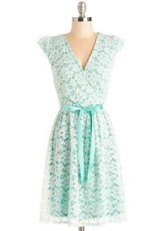 Fancy You There Dress. It may be a few weeks until the next soiree on your calendar, but youre already certain youll don this mint dress for the occasion! #mint #wedding #bridesmaid #modcloth