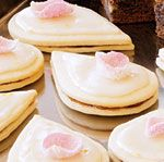 Lemon-Rose Empire Cookies..tea cookies with candied rose petals and lemon icing. Sounds like something for high tea...