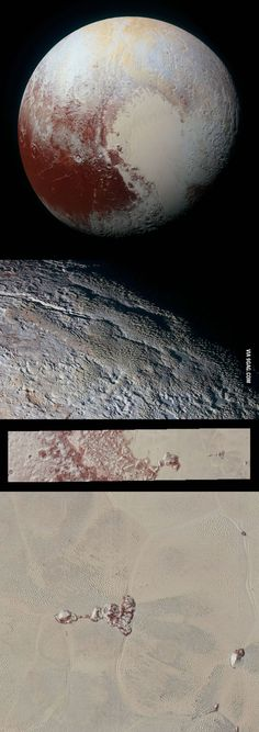 New Horizons sends back stunning partial-color images of Pluto - 9GAG
