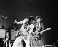 Chuck Berry and Keith Richards in Chicago, 1980