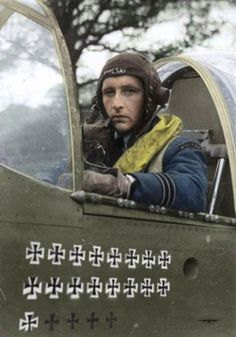 Polish fighter, Stanislaw Skalski. He shot down approximately 20 German aircraft for the British Royal Air Force.