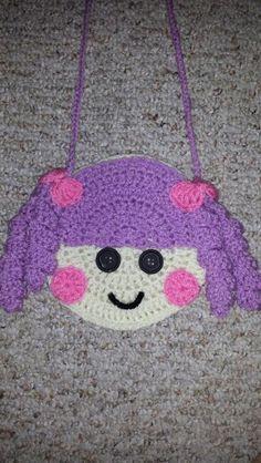 bolsinhas lalaloopsy em crochê - Pesquisa Google Cute Crochet, Beautiful Crochet, Crochet Baby, Knit Crochet, Hello Kitty Crochet, Kids Purse, Craft Show Ideas, Crochet Purses, Kids Bags