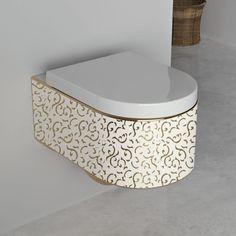 WC suspendu Orba White Gold + Abattant