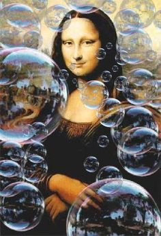 Mona blowing bubbles ~ by Tee Thonen