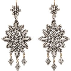 Preowned Opulent Georgian Cut Steel Girandole Earrings (170.825 RUB) ❤ liked on Polyvore featuring jewelry, earrings, multiple, earrings jewellery, steel jewelry, preowned jewelry, abstract jewelry and steel earrings