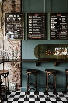 Archive of Biggie Smalls Windsor by Techne Architecture Bistro Design, Pub Design, Design Room, Coffee Shop Design, Small Restaurant Design, Deco Restaurant, Rustic Restaurant, Industrial Restaurant, Restaurant Layout