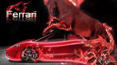 Neon Fire Ferrari Red Horse Wheelbarrow Cars Hd Wallpapers