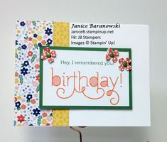 """Remembered Birthday Flowers- I saw this template on Stamps to die for and loved how easy it was to do. So easy that I kept making variations! This is the """"flower"""" one. - #JBStampers"""