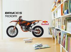 Amazing Motocross Removable Wall Stickers Decals for Kids Small Bedrooms Design Ideas