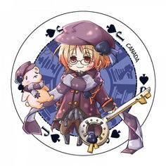 Hetalia Cardverse!Canada. Wow, I haven't seen any fanwork of cardverse for Canada, though I've always wondered where Hima-Papa would put him. In this case, the artist chose Spades, which makes sense. :3