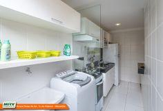 Apartamento decorado 2 quartos do Parque Dunas do Sol na Estrada da Maioba - São José de Ribamar - MA - MRV - Lavanderia.