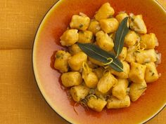Pumpkin Gnocchi with Butter and Sage Sauce--tried the sauce with store-bought gnocchi and it was great!