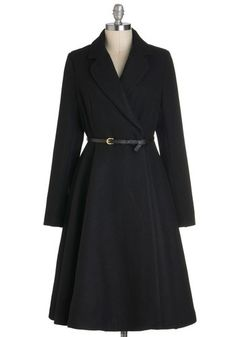 Sleek and sable coat- modcloth.com  Great website for vintage like apparel  Got to have this coat