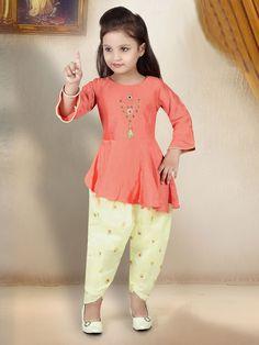 Kids Salwar Kameez, Salwar Kameez Online, Salwar Suits, Girls Frock Design, Kids Frocks Design, Jeans Frock, Women's Fashion Dresses, Casual Dresses, Kids Party Wear Dresses