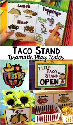 Taco Stand Dramatic Play - Menus, Order Forms, Name Tags and Labels to set up a Mexican Restaurant in the kitchen center