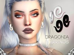 Earrings in 2 colors.  Found in TSR Category 'Sims 4 Female Earrings'