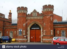 The entrance gates to Lincoln Prison: Inspectors were shocked to learn from an inmate about the execution facility.maybe you should leave the info in there and dissuade them from becoming inmates in the first place. Lincoln Uk, Lincolnshire England, Lost In Translation, Entrance Gates, Double Doors, Muslim, Cabin, Windows, Doors