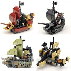 Bundle: Custom LEGO Pirates of the Caribbean Pirate Ships Instructions – All 4 for Lower Price Bundle: Custom LEGO Piraten der Karibik Piratenschiffe Anleitung – Bauen Sie bessere Steine Bateau Pirate Lego, Bateau Lego, Lego Pirate Ship, Lego Ship, Pirate Ships, Lego Moc, Robot Lego, Lego Cars, Lego Duplo