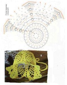 Crochet Christmas Decorations, Crochet Decoration, Crochet Christmas Ornaments, Christmas Crochet Patterns, Holiday Crochet, Crochet Diagram, Crochet Motif, Crochet Doilies, Crochet Flowers