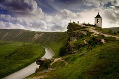 Tipova monastery in Moldova is a magnificent cave complex, which was created in the 6th century in the cliffs above the Nistru river and reached its heyday in the 18th century.: