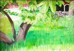 Tree Landscape Painting Framed Original Oil by annarobertsart