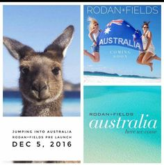 AUSTRALIA, we're coming!!! Rodan+Fields is headed to the land down under! I'm so excited... because this is a GROUND FLOOR opportunity to partner with two of the most amazing dermatologists in the WORLD. The fastest growing premium skincare company for the last 6 years is ready to jump on down to Australia and bring life changing skincare! Live in Australia or know someone who does that would be interested in this opportunity? Message me. 734-626-1838 www.dmoore7.myrandf.biz