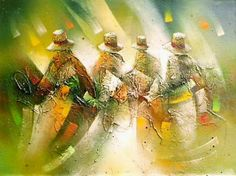 cuadros peruanos modernos - Buscar con Google Crayon Painting, Peruvian Art, Cubism, Pictures To Paint, Art Tutorials, Folk Art, Watercolor, Landscape, Artwork