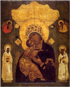 Volokolamsk Icon of the Most Holy Mother of God Mar Religious Images, Religious Icons, Religious Art, Blessed Mother Mary, Blessed Virgin Mary, Religion, Russian Icons, Holy Mary, Madonna And Child