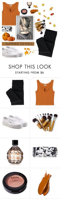 """""""Summer To Fall"""" by janemorguedoe ❤ liked on Polyvore featuring Vans, Jimmy Choo, NYX and Balmain"""