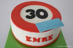 Road Sign Cake: 30 and still attrctive