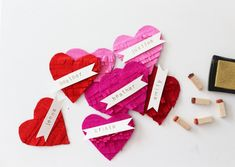 Valentine name tags via Be Crafty Workshops