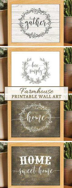 Pretty Farmhouse style printable wall art. Cheap way to decorate the house. #farmhouse #rustic #wallart #ad #printable #instantdownload #homedecor #budgetfriendly