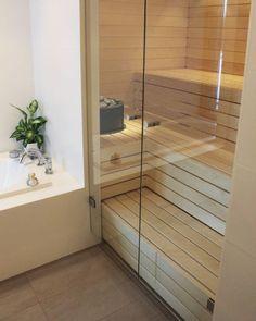Portable Steam Sauna - We Answer All Your Questions! Sauna House, Sauna Room, Spa Rooms, House Rooms, Saunas, Building A Sauna, Sauna Shower, Garden Shed Interiors, Master Bath Shower