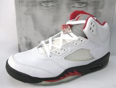 6cd037f45684 Air Jordan 5 2000 Retro White Black Fire Red