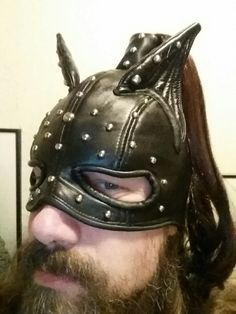 Leather Cat Ear Mask, Studs