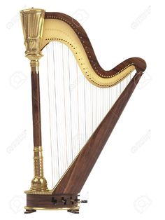 Illustration about Harp isolated on white background. Illustration of ancient, musical, entertainment - 19636290 Creative Infographic, White Background Photo, Harp, Birds In Flight, Stock Photos, Antiques, Illustration, Image, Irish
