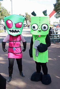 Invader Zim and Gir! Found mine and Matt's Halloween costumes!! Eeeexxxccciiiitttteeedddd!!!!!