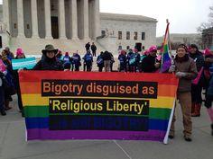 "TRUTH: Bigotry disguised as ""religious liberty"" is still bigotry. #RFRA #UniteBlue #p2 #RepealRFRA #LGBTQ    http://justinspoliticalcorner.tumblr.com/post/115371096112/truth-bigotry-disguised-as-religious-liberty-is"