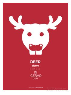 Red Moose Multilingual Poster Pósters por NaxArt en AllPosters.es
